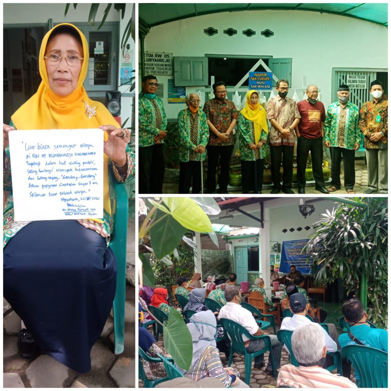 Gerakan mbagei Centelan Sembako di wilayah RW 05 Kelurahan Karangwaru