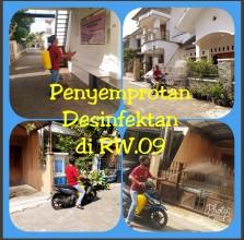 Penanggulangan Wabah Virus Corono ( Covid-19)  di RW. 09  Kelurahan Karangwaru